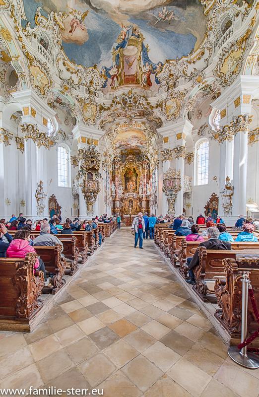 Das Kirchenschiff in der Wieskirche