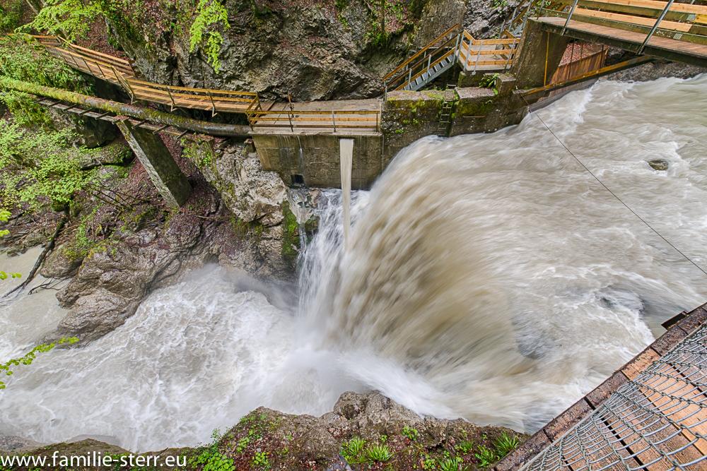Wasserfall der Dornbirn Ache in der Rappenlochschlucht bei Gütle / Dornbirn