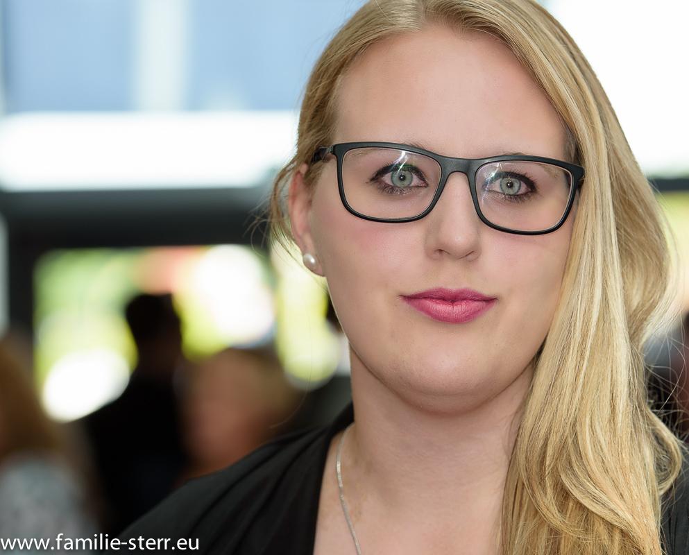 Katharina bei der Abiturfeier an der FOS/BOS Erding