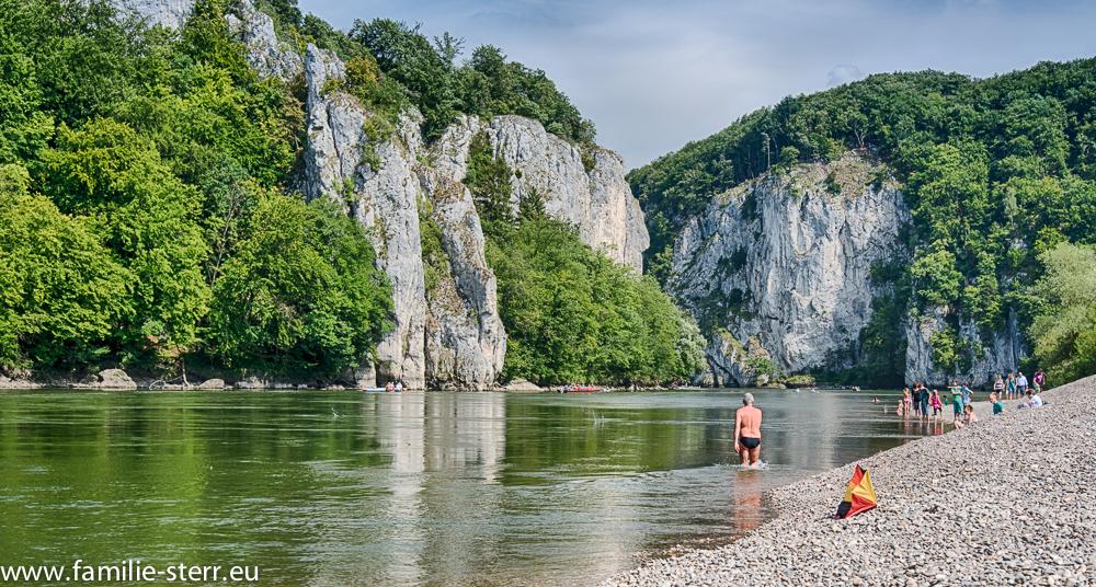 Donau beim Kloster Weltenburg zum Donaudurchbruch