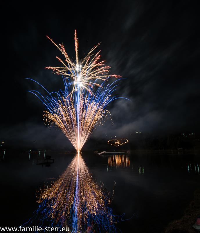 Feuerwerk beim imPark Sommerfestival 2015 im Olympiapark München