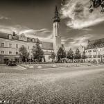 Der Schrannenplatz in Erding mit dem Frauenkircherl