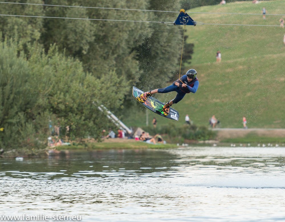 Wakeboarder im Olympiasee