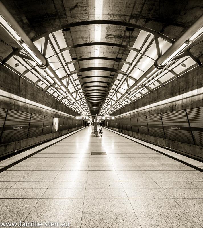 """Endstation der U2 """"Messestadt Ost"""""""