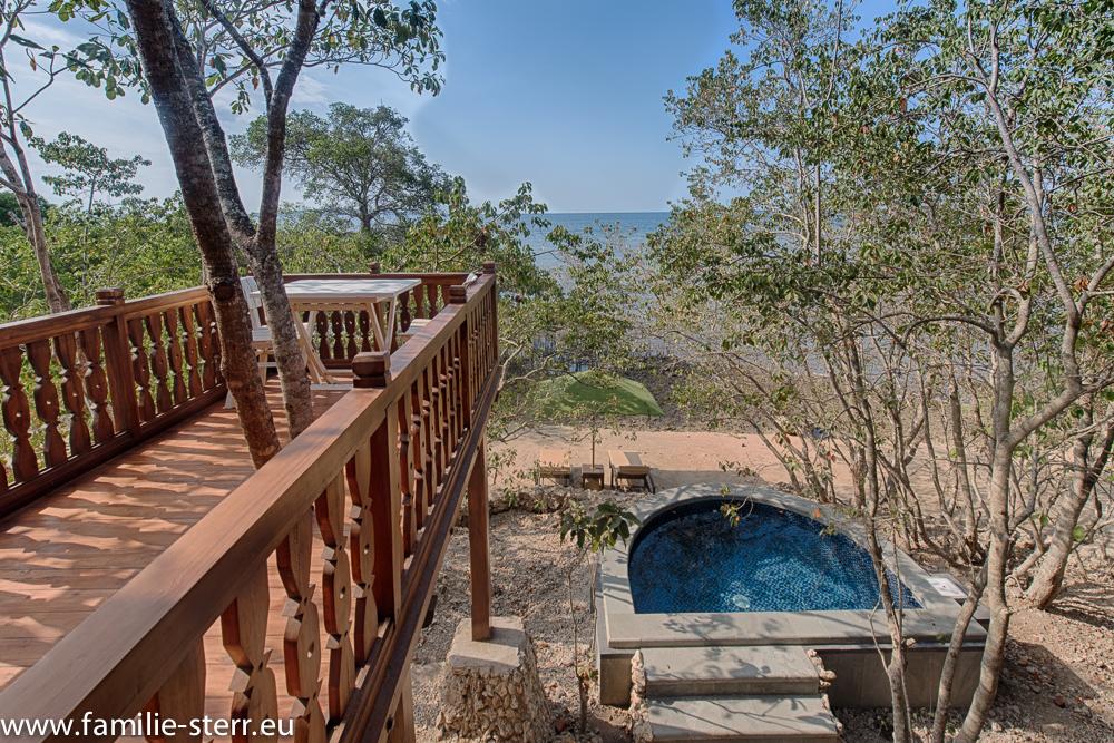 Terrasse und Plunge Pool - Villa 3 - Plataran Menjangan
