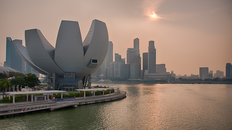 Haze über Singapur