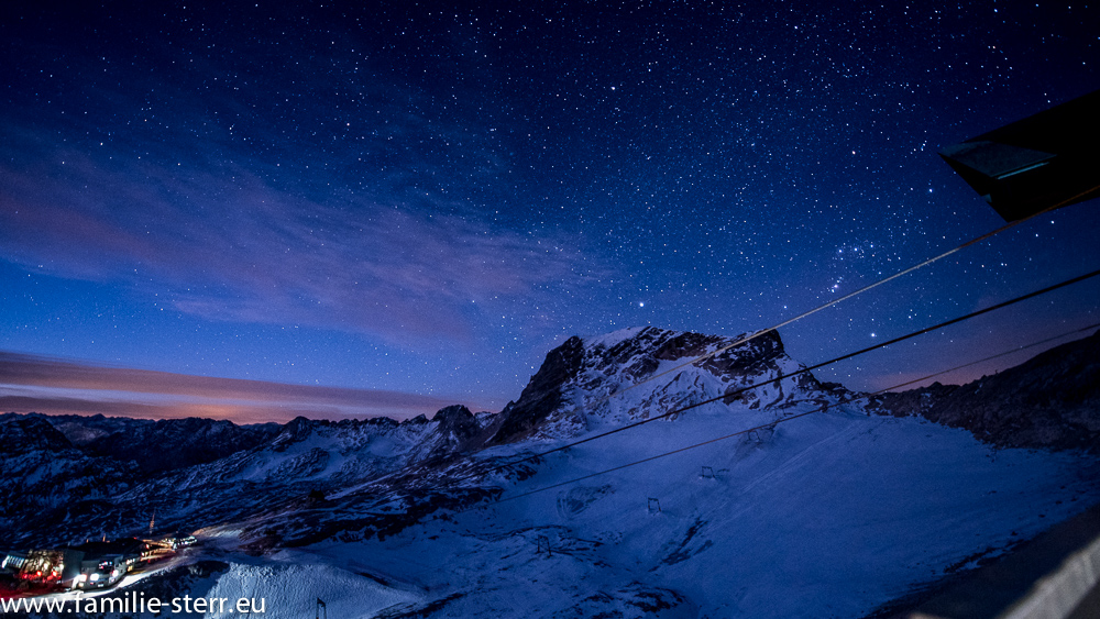 Sternenhimmel an der Zugspitze