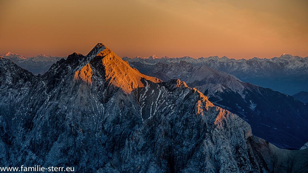 Sonnenuntergang an der Zugspitze
