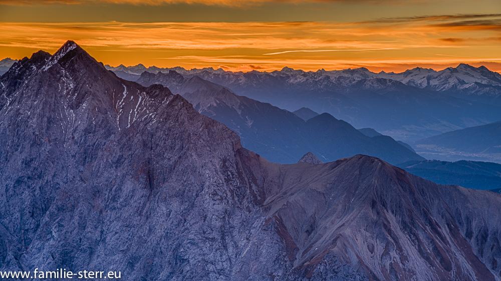 Sonnenaufgang am Schneefernerhaus