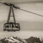 Gondel der Gletscherseilbahn