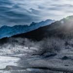 Eis und Winterstimmung an der oberen Isar bei Wallgau