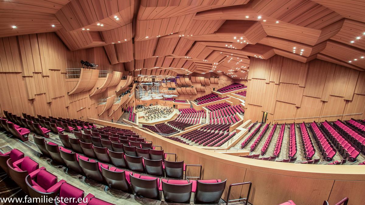 Philharmonie im Gasteig / München - Blick aus dem Zuschauerbereich