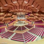 Philharmonie München im Gasteig, Saal von der Lichtregie aus aufgenommen