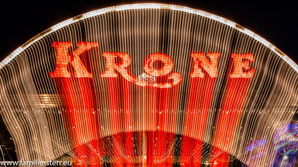 Leuchtschrift am Circus Krone Bau in München