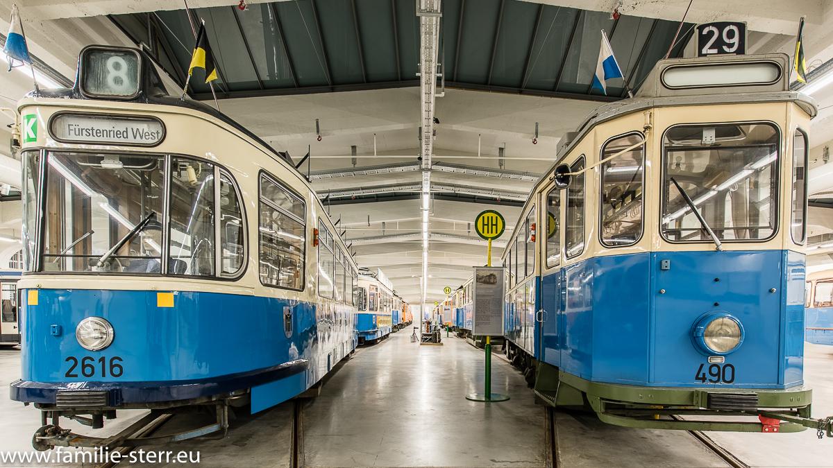 Straßenbahnen im MVG Museum