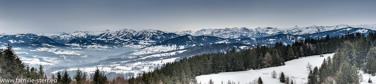 Panorama von der Bergstation am Pfänder bei Bregenz