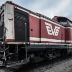 Diesellok der EVB im Westhafen Regensburg