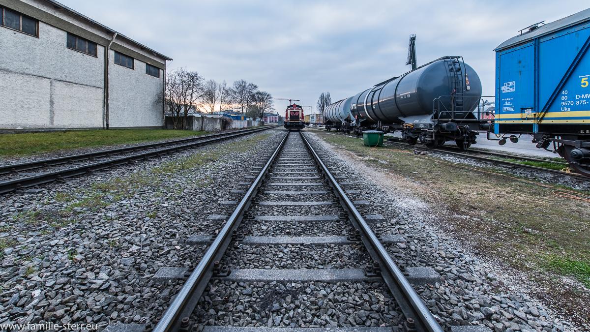 Gleise im Regensburger Westhafen