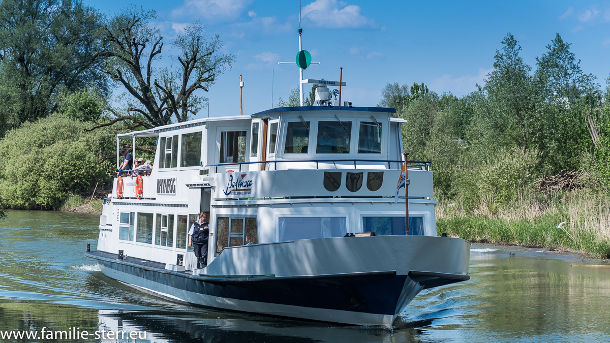 Schiff am Alten Rhein in Rheineck