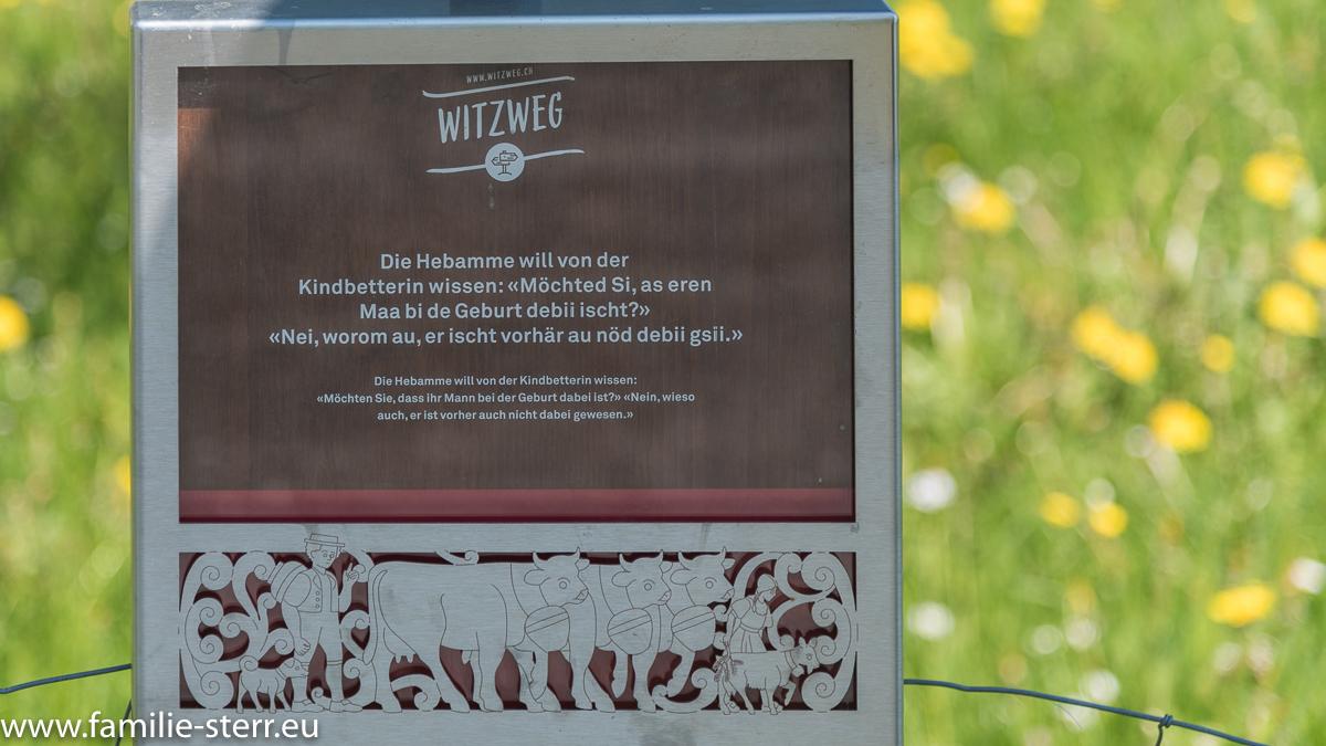 Witztafel am Appenzeller Witzwanderweg