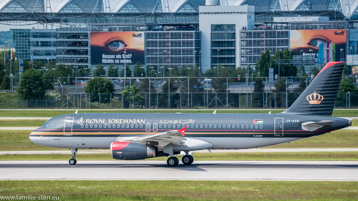 Royal Jordanian A 320 am Flughafen München
