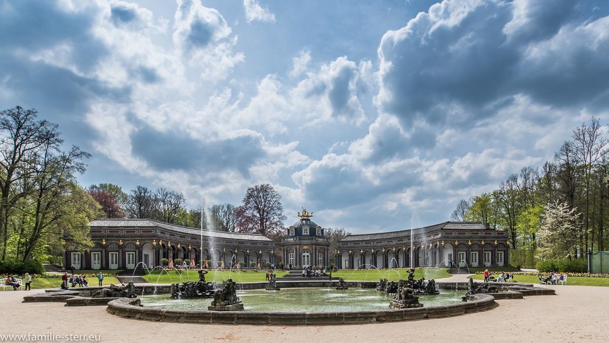 Wasserspiele vor dem Neue Schloss / Eremitage Bayreuth