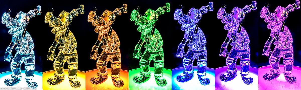 Swarovski - Goofy - Figur verschiedenfarbig beleuchtet