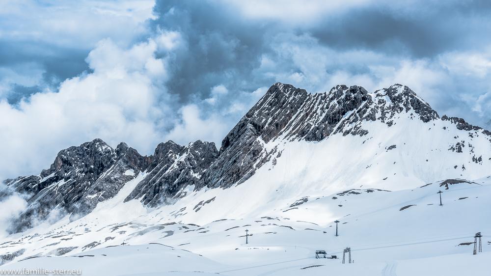 Blick über das Zugspitzplatt vom Schneefernerhaus aus