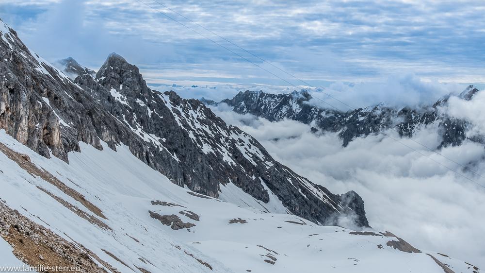 Blick vom Schneefernerhaus Richtung Jubiläumsgrat