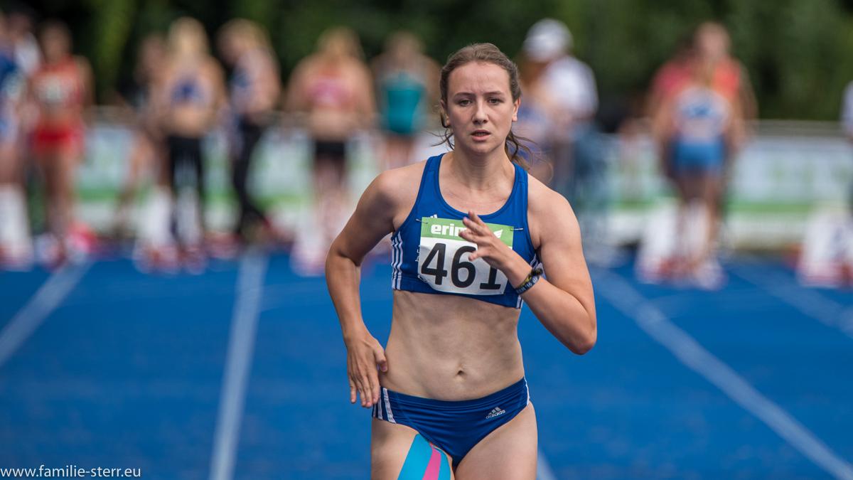 Sprinterin bei den Leichtathletik Bayerische Meisterschaften 2016 in Erding
