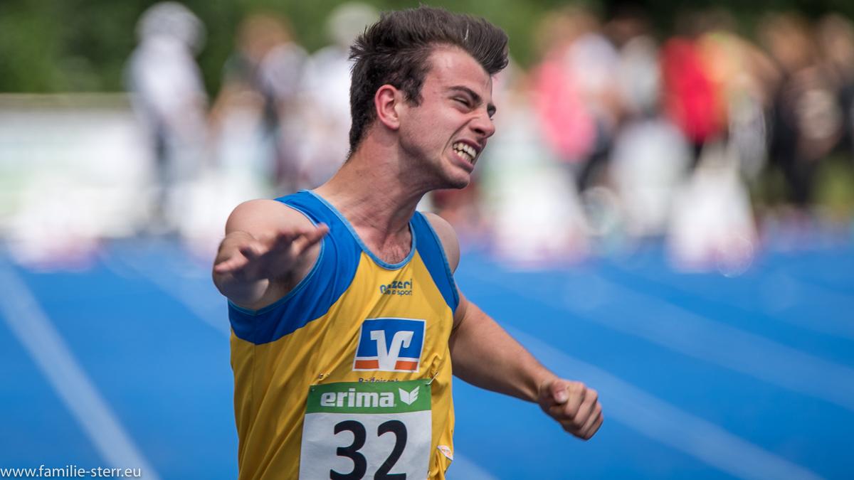 Sprinter bei den Leichtathletik Bayerische Meisterschaften 2016 in Erding