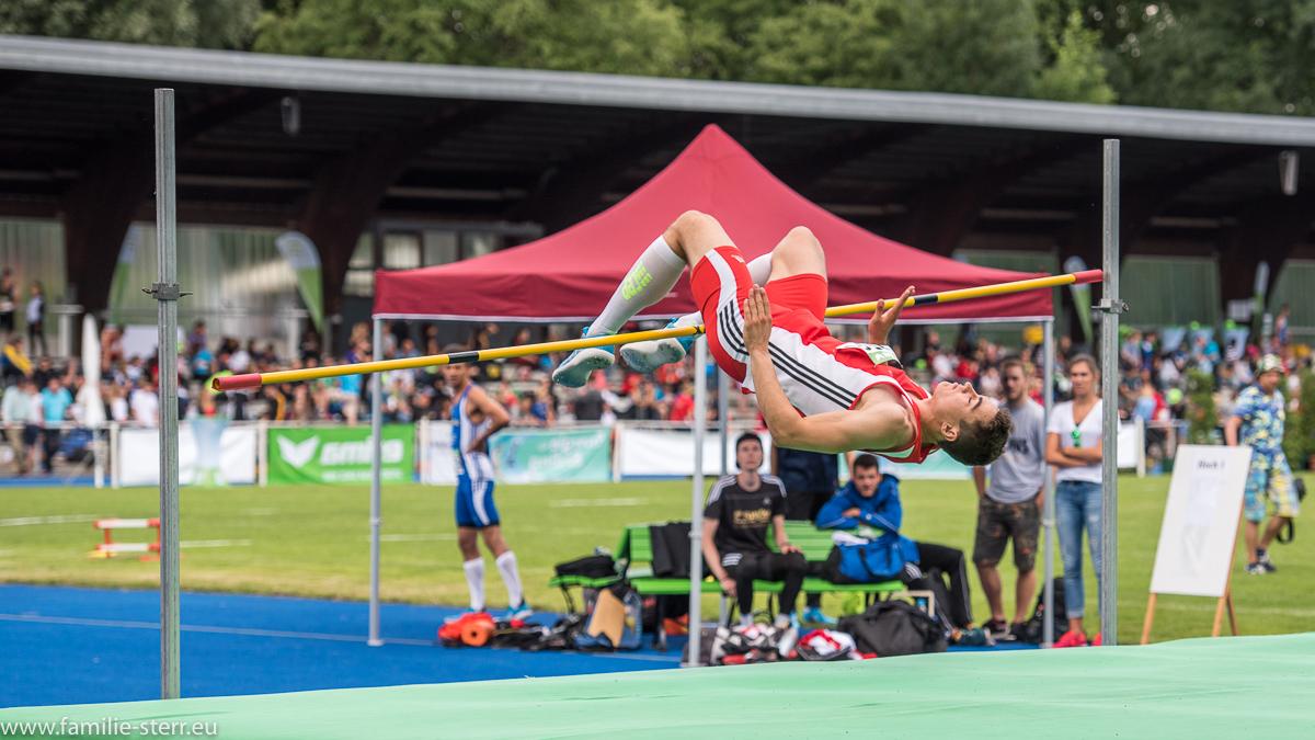 Hochspringer bei den Leichtathletik Bayerische Meisterschaften 2016 in Erding