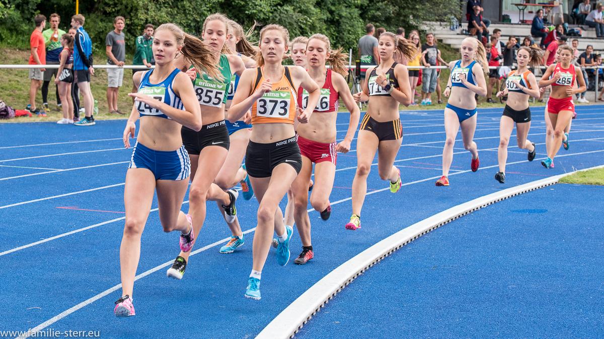 1500m Lauf der Frauen - Leichtathletik Bayerische Meisterschaften 2016 in Erding
