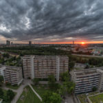 Sonnengang über den Münchner Dächern