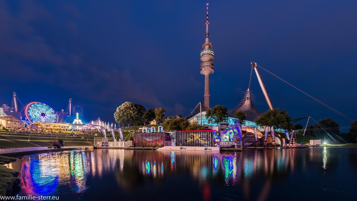 Das Festgelände beim imPark Sommerfestival im Münchner Olympiapark