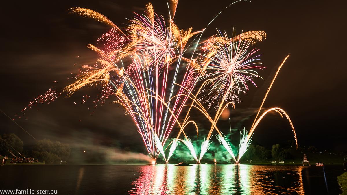 Feuerwerk beim imPark Sommerfestival 2016 / Olympiapark München
