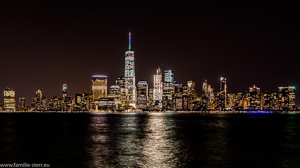Downtown Manhattan in der Nacht
