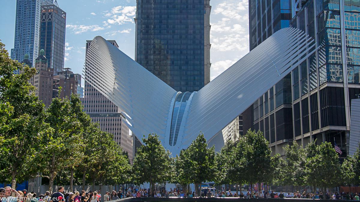 PATH - Station World Trade Center / startende Friendenstaube