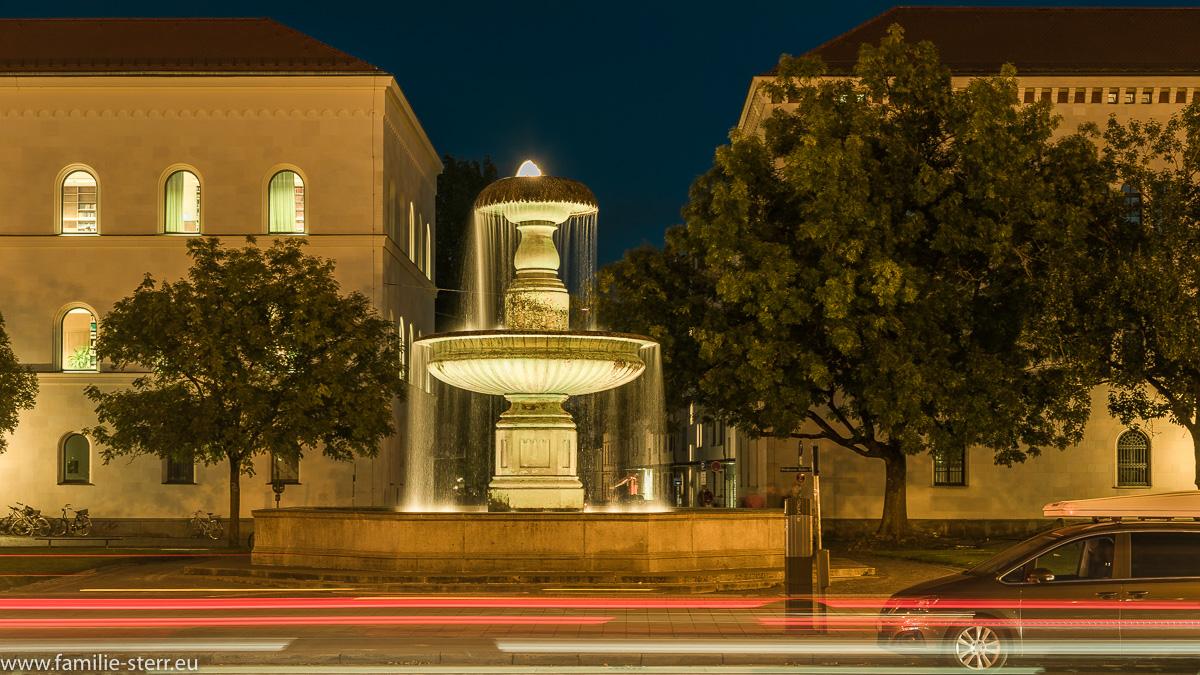 die römischen Brunnen vor der Ludwigs-Maximilians-Universität in München