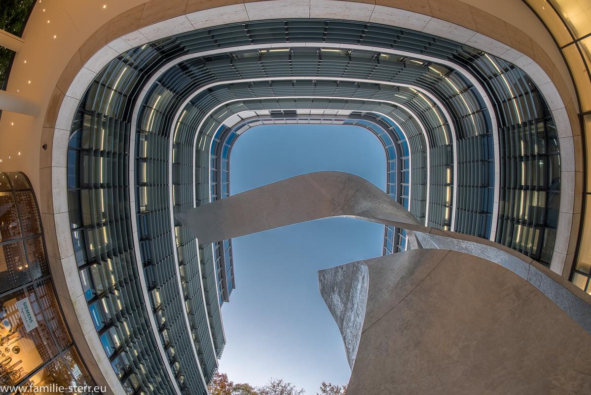 Innenhof in der neuen Siemenszentrale in München