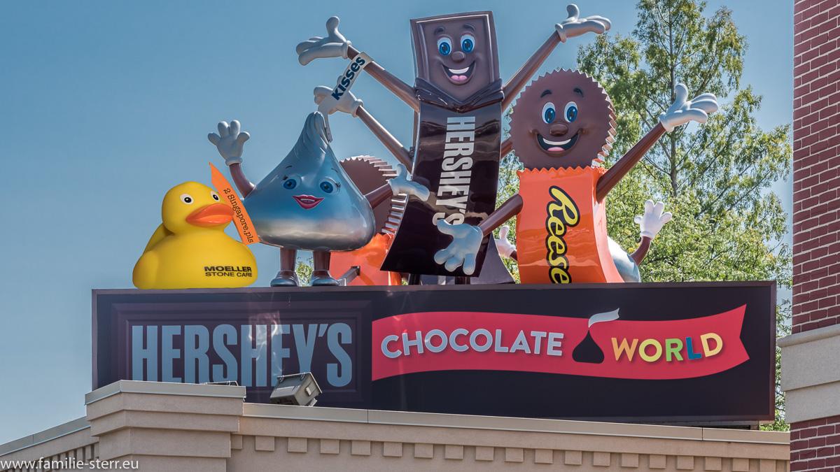 Renate in der Hershey Chocolate World