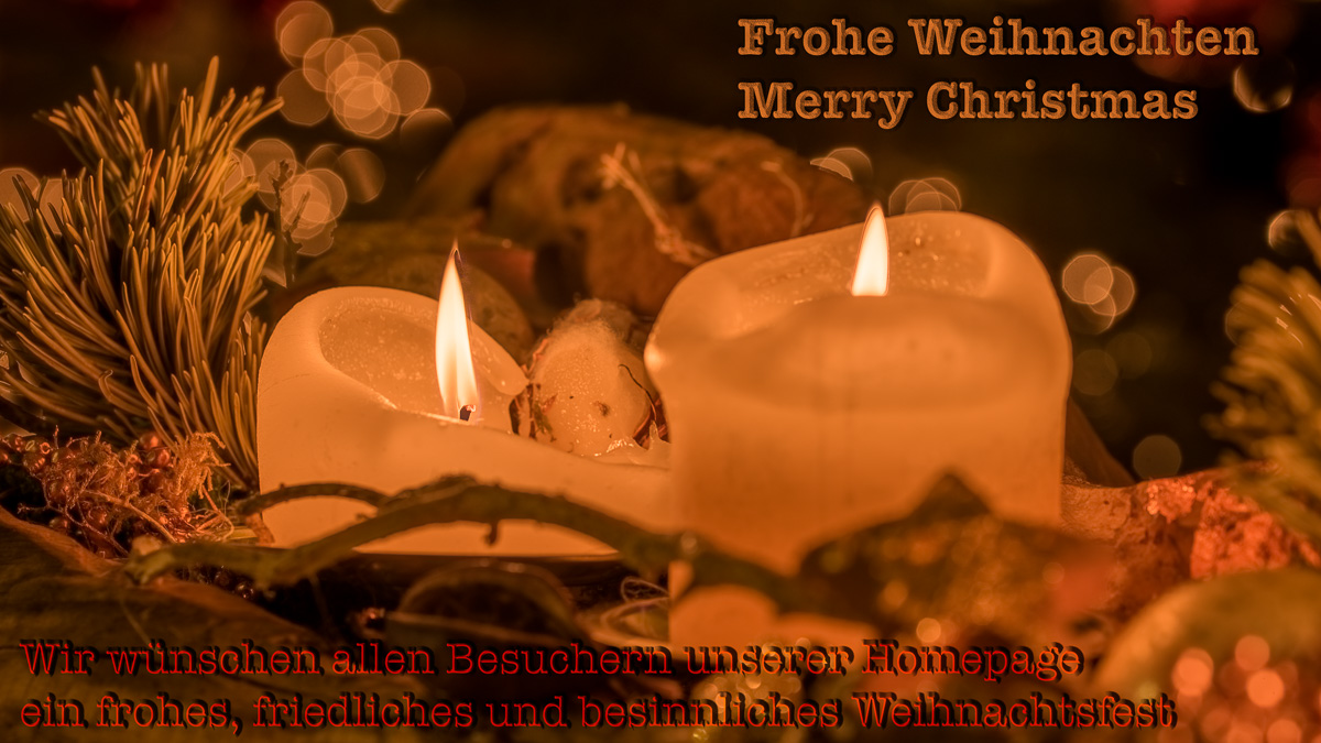 Wir wünschen allen Besuchern der Homepage frohe Weihnachten