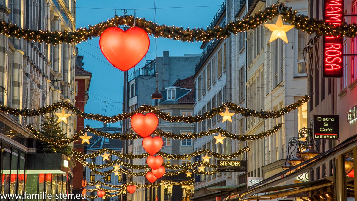 Weihnachtsbeleuchtung in Kopenhagen