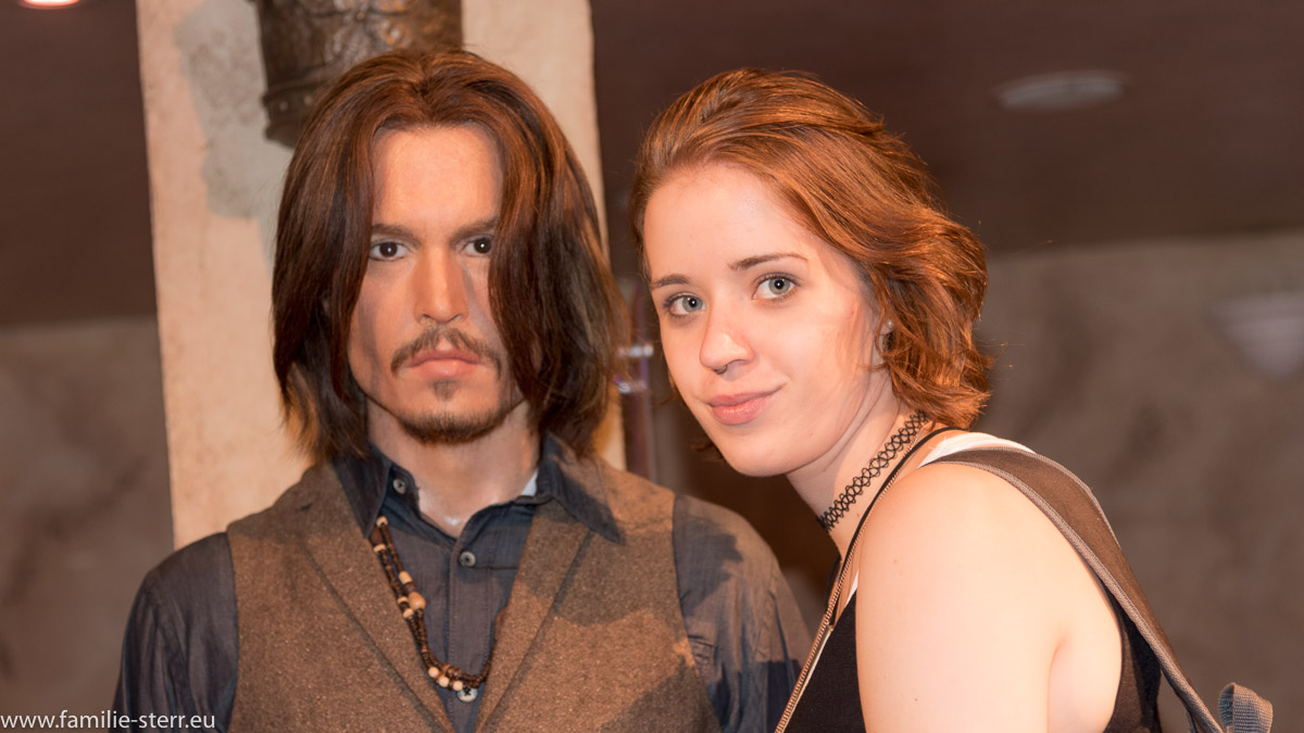 Melanie und Johnny Depp bei Madame Tussaud in New York