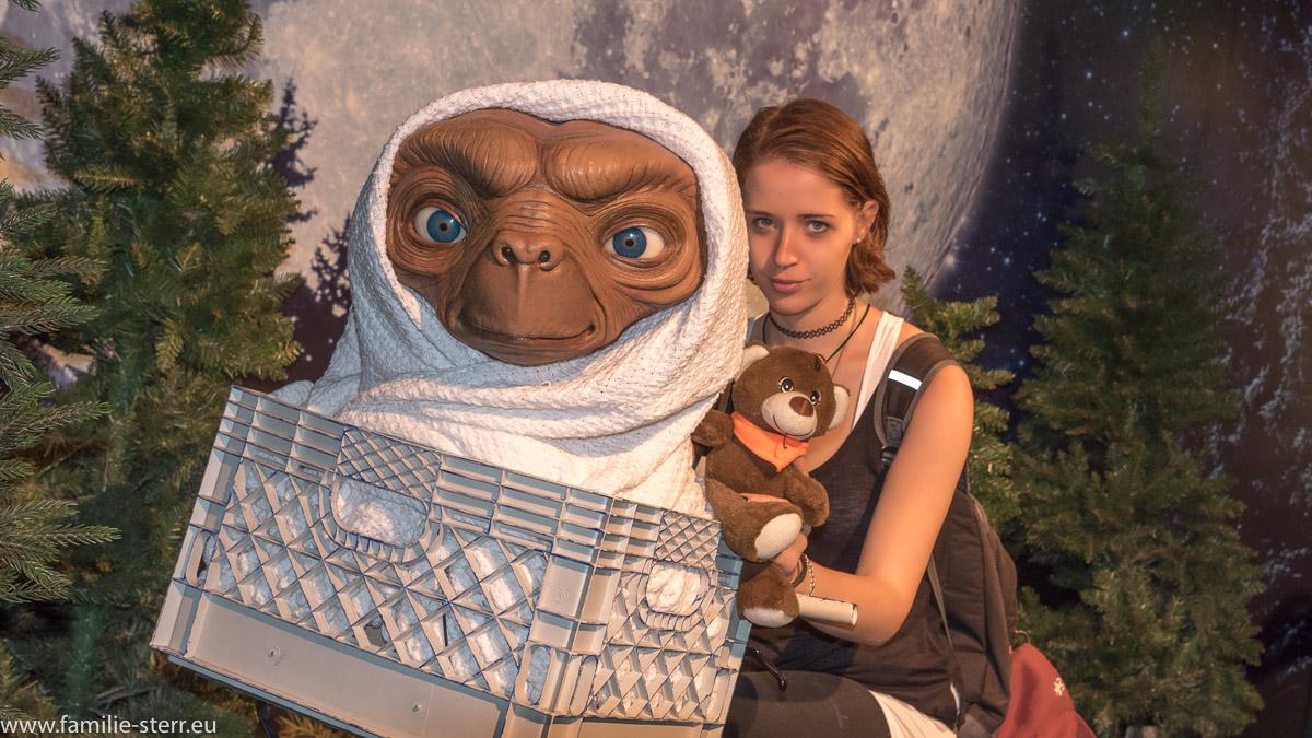 Melanie und ET bei Madame Tussaud in New York