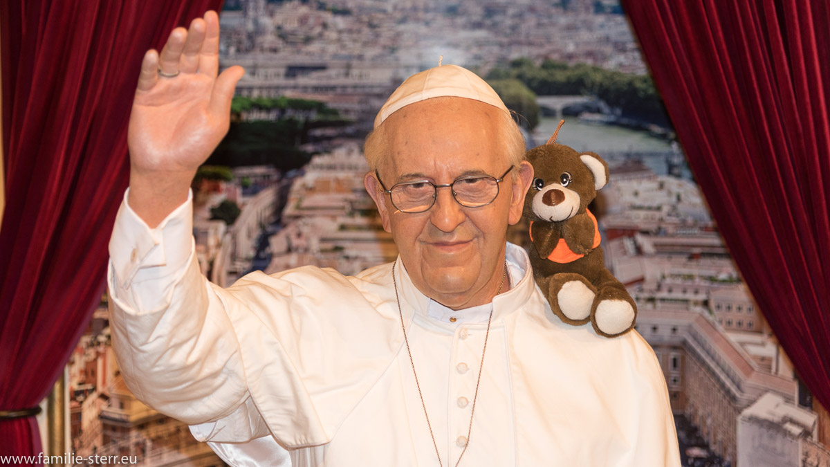 Papst Franziskus bei Madame Tussaud in New York