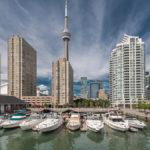 Yachthafen Toronto mit CN Tower im Hintergrund