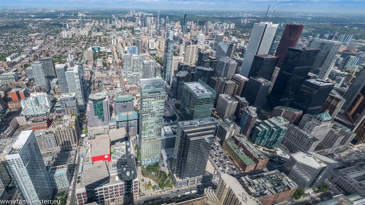 Skyline von Toronto vom CN - Tower aus