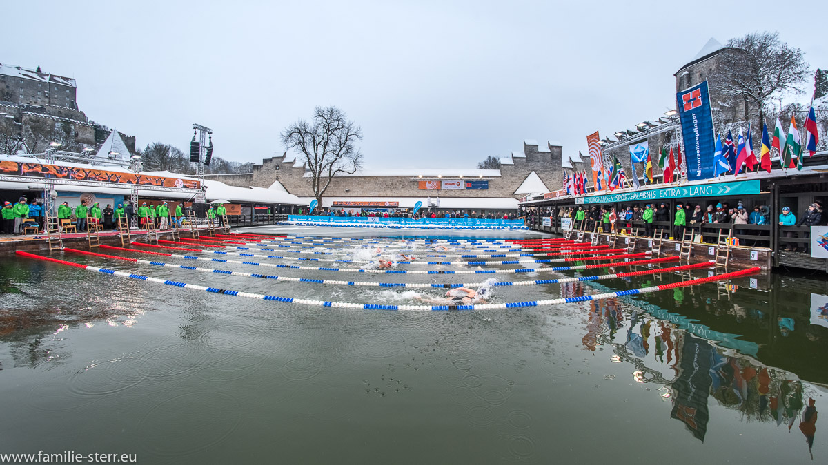 Schwimmstadion Wöhrsee beim Eisschwimmen / Ice-Swimming 2017 in Burghausen 7 German Open und Weltmeisterschaft