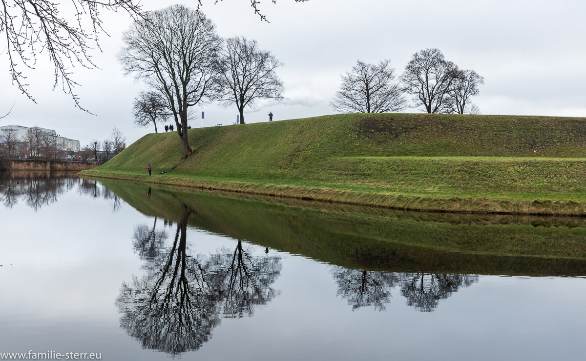 Wall zur Befestigung des Kasteiet im Kopenhagen